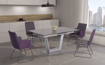 Picture of Gray Ceramic Top Extendable Dining Table