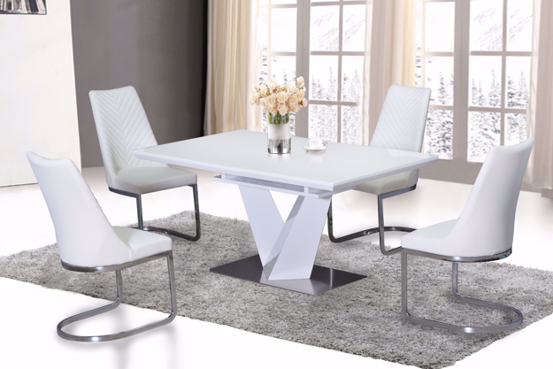 Picture of Nikole Glass Top Extendable Dining Table