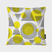 "Picture of Abstract Yellow Pillow 16"" x16"""