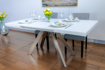 Picture of Camel Glass Top Extendable Dining Table