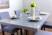 Picture of Robby Glass Top Extendable Dining Table