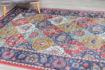 Picture of Leyla Dark Rose/Dark Blue Area Rug 5x7ft