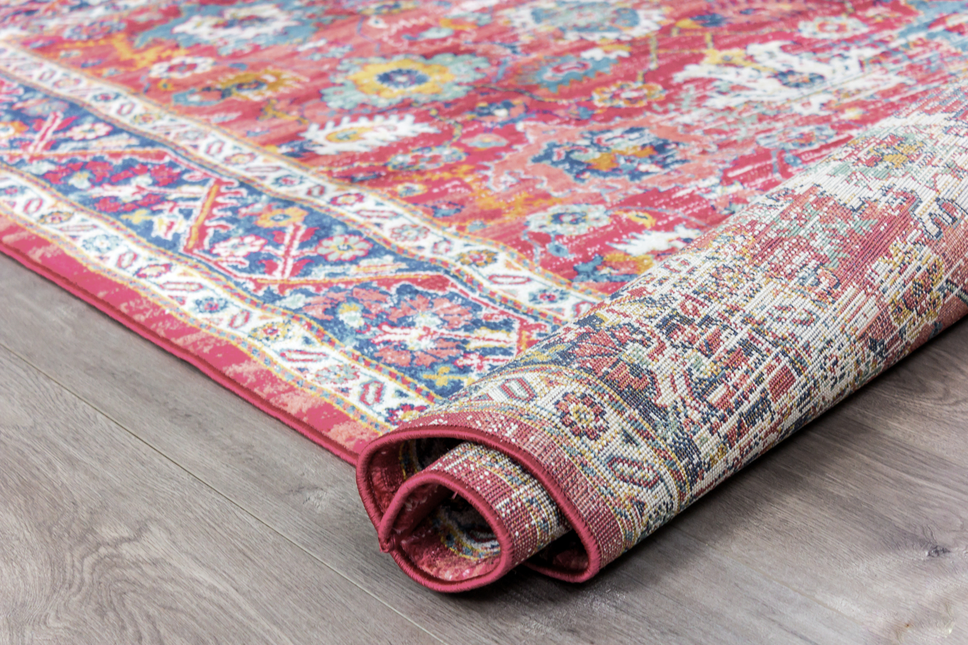 Picture of Leyla Area Rug Dark Rose/Dark Blue 8x10ft