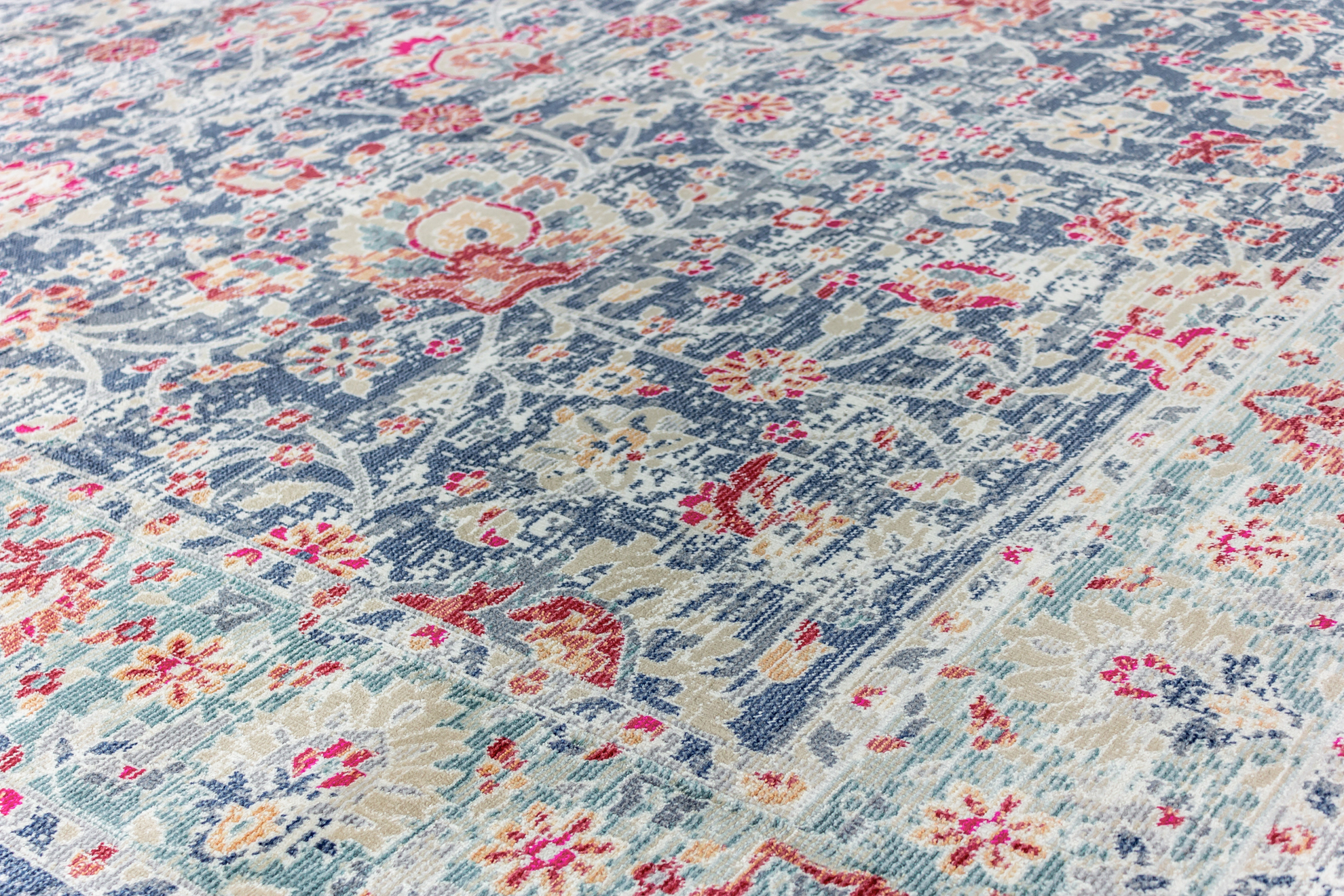 Picture of Bohemian Navy-Blue Turkish  Area Rug 8X10FT