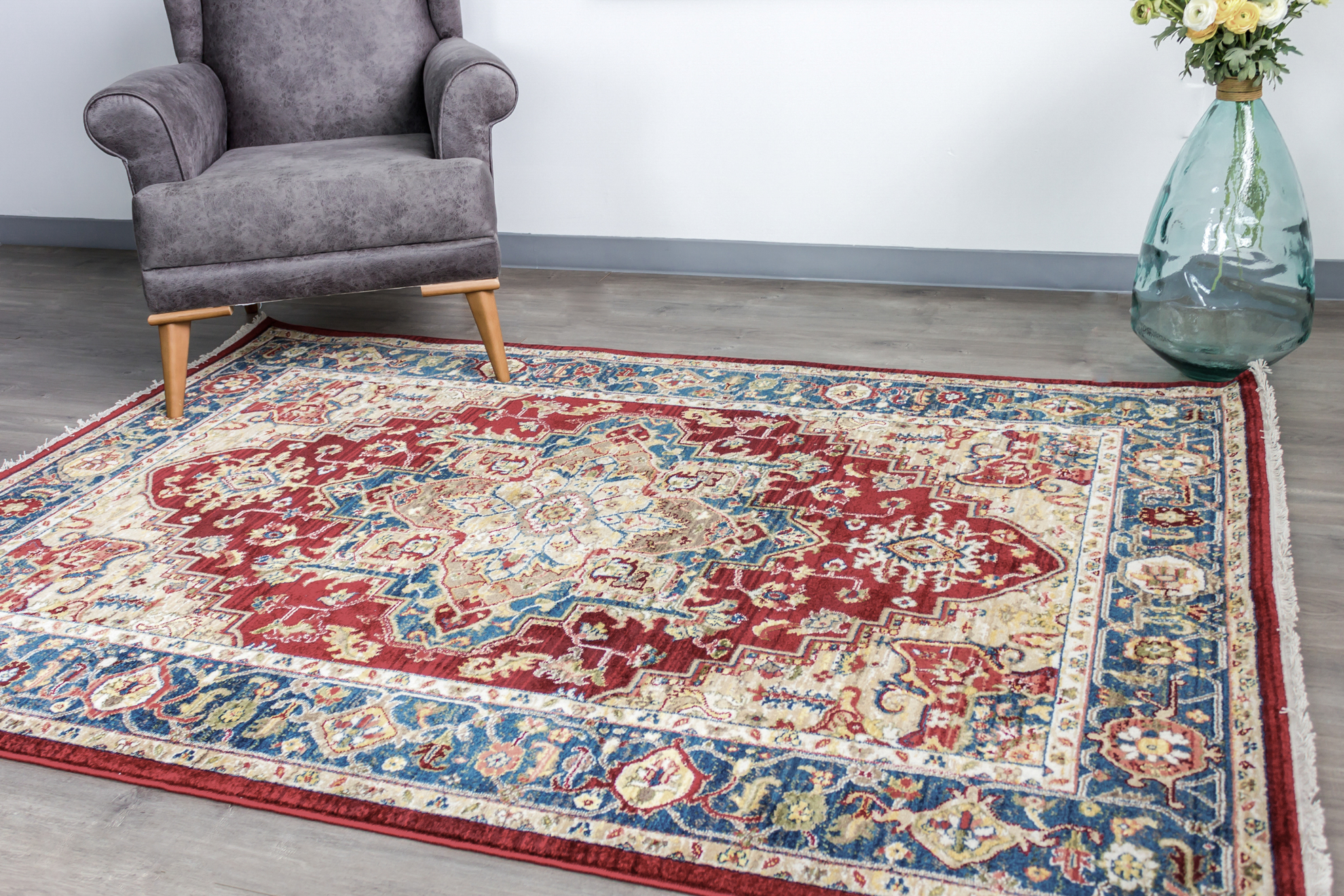 Picture of Rakkas Blue/Ivy Area Rug 8x10ft