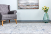 Picture of Lowen Cream/Silver-Blue Area Rug 5x7ft