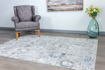 Picture of Lowen Cream/Silver-Blue Area Rug8x10ft