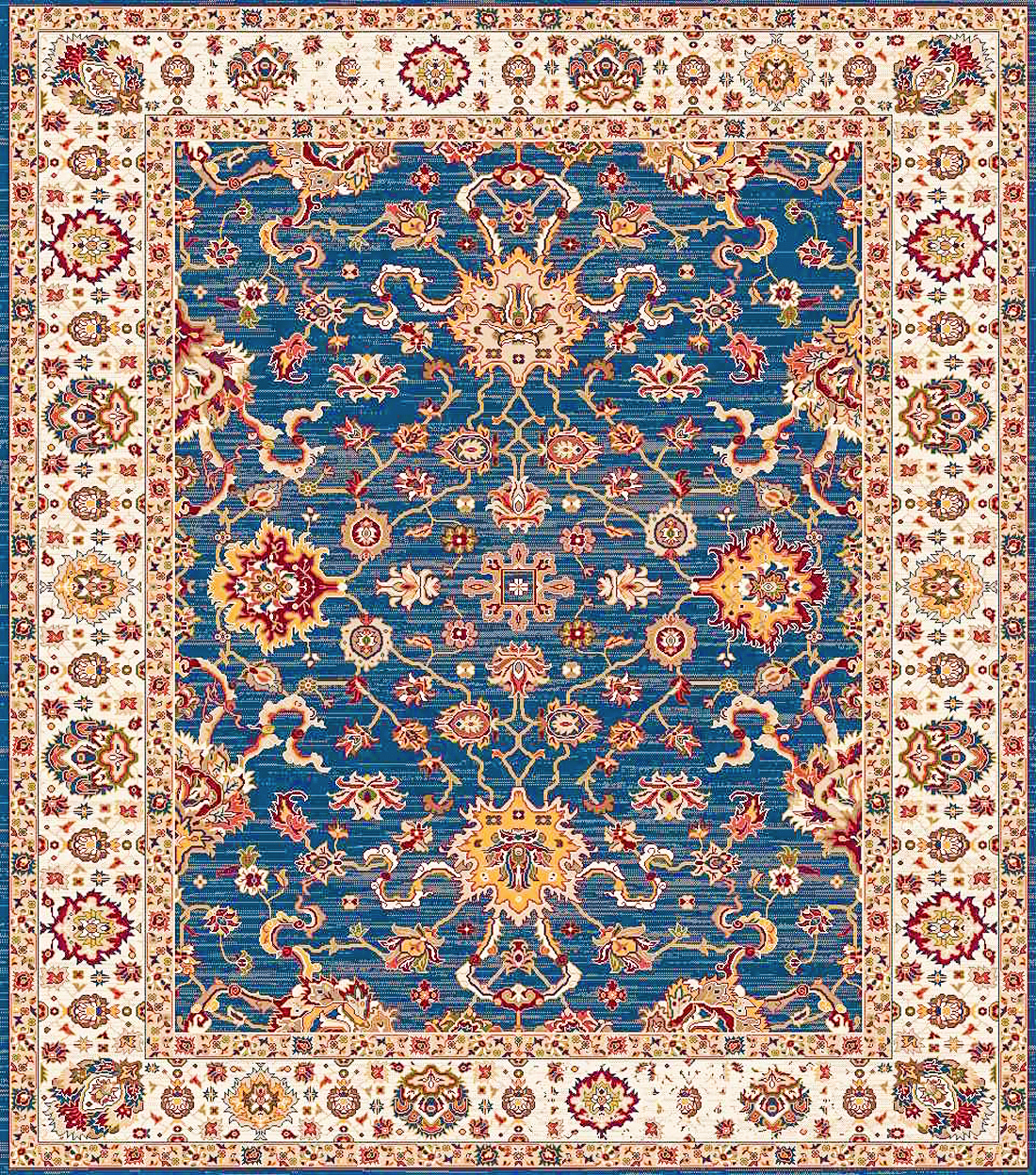 Picture of Rakkas Blue/Ivy Area Rug 5x7ft