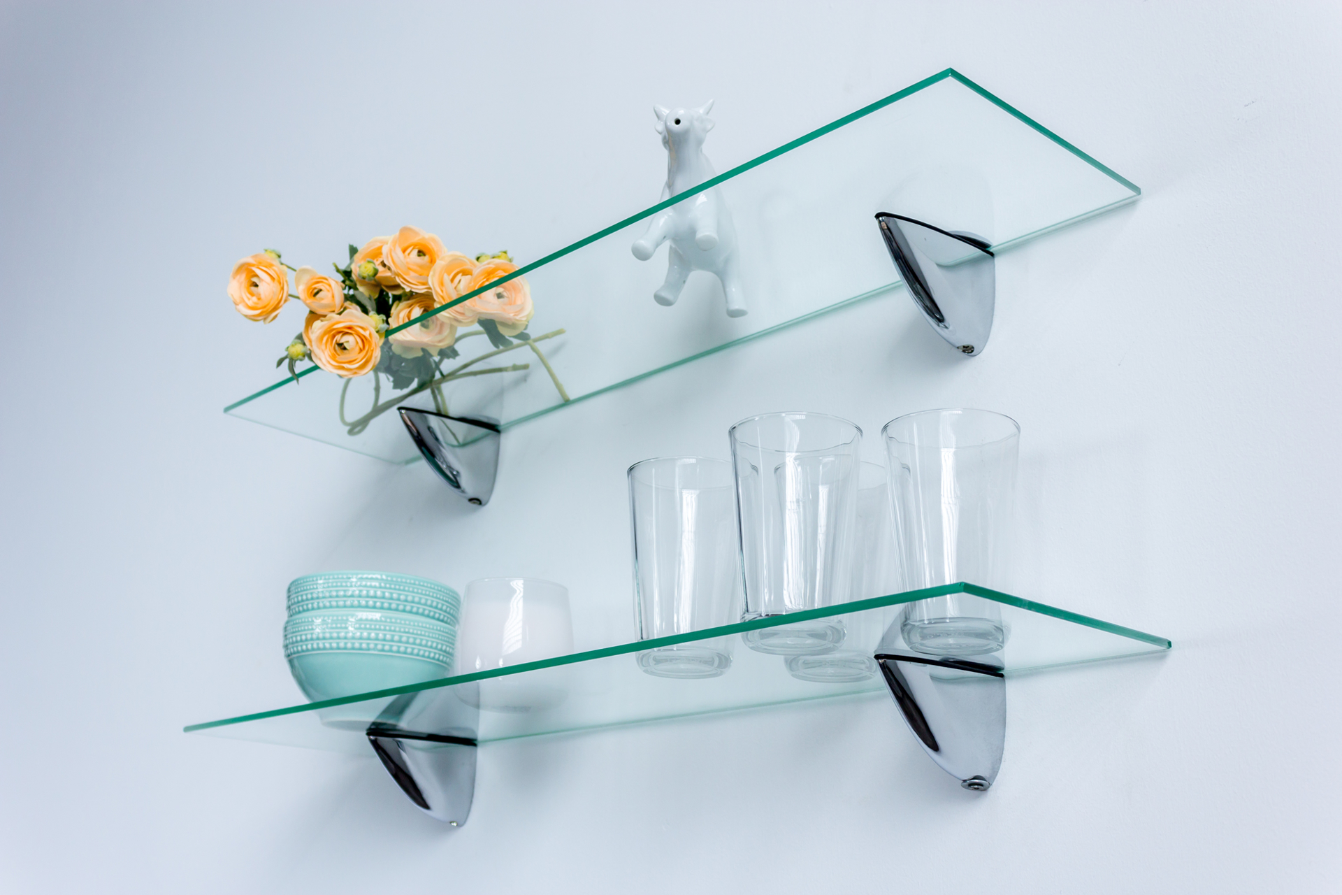 Picture of BARRY I Set of 2 Glass Shelves